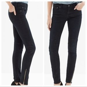 Madewell Skinny Moto Dark Blue Jeans Rebel Wash 27